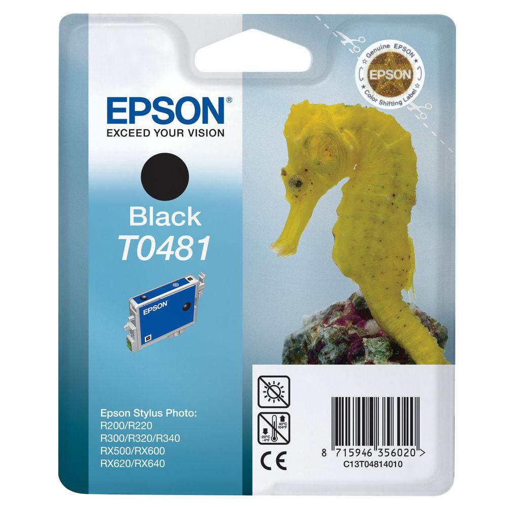 Cartouche T0481 Stylus Photo Noire pour imprimante Jet d'encre Epson - 0