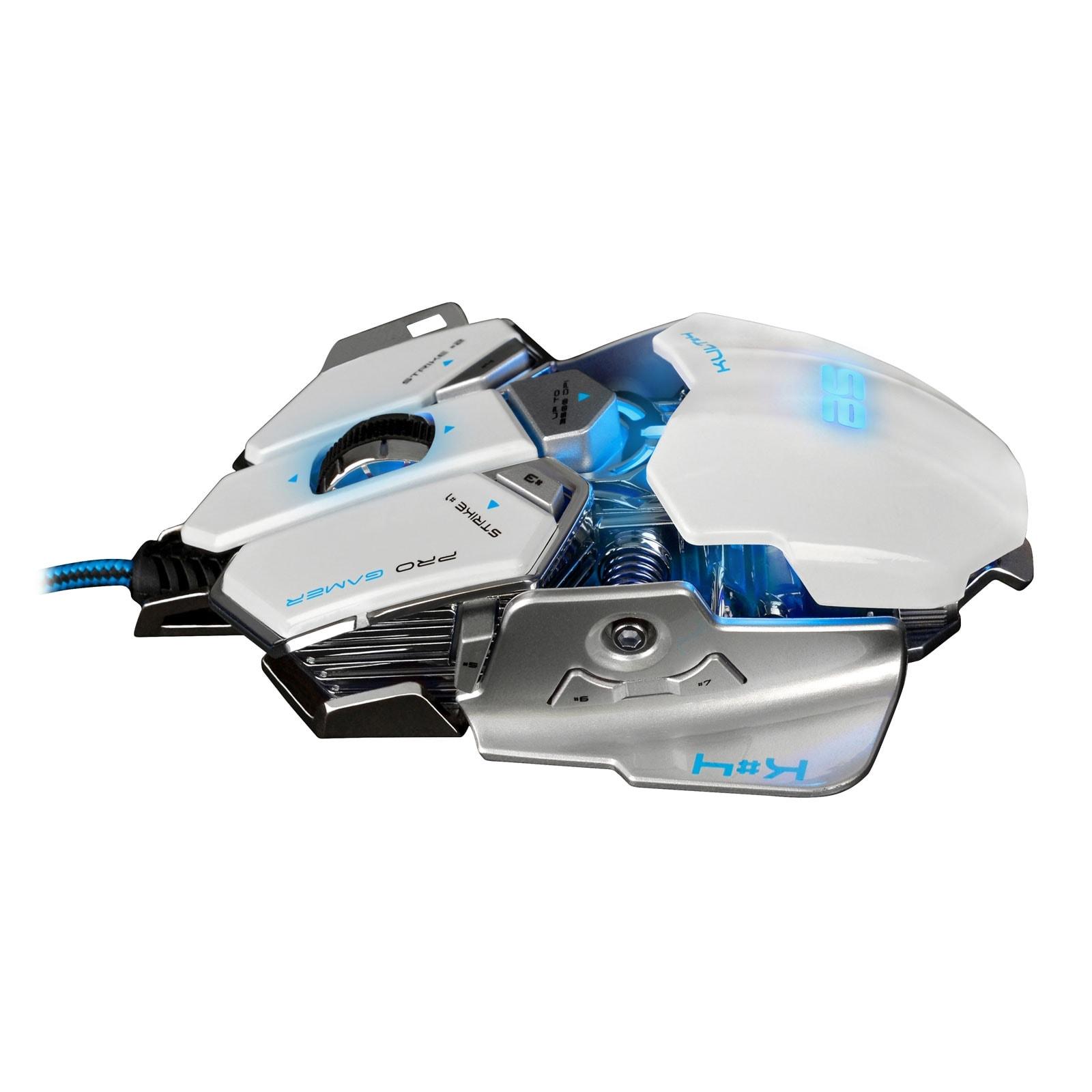 Bluestork KULT 4 WHITE ED. 3500dpi/Rétroéclairé/10 boutons (BS-GM-KULT4/W) - Achat / Vente Souris PC sur Cybertek.fr - 3
