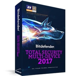Bitdefender Offre groupée Pack 4+1 Total Security 2017 - 2 Ans/10 periph Cybertek