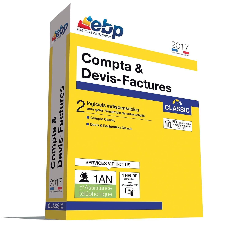 EBP Compta & Devis-Factures Classic 2017 +VIP + offre Satisfait ou re (1108J091FAA) - Achat / Vente Logiciel Application sur Cybertek.fr - 0