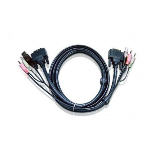 Cordon KVM USB DVI-D Audio - 5m -  Aten - Cybertek.fr - 0