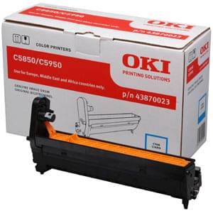 Consommable imprimante Oki Kit tambour Cyan 20 000p - 43870023