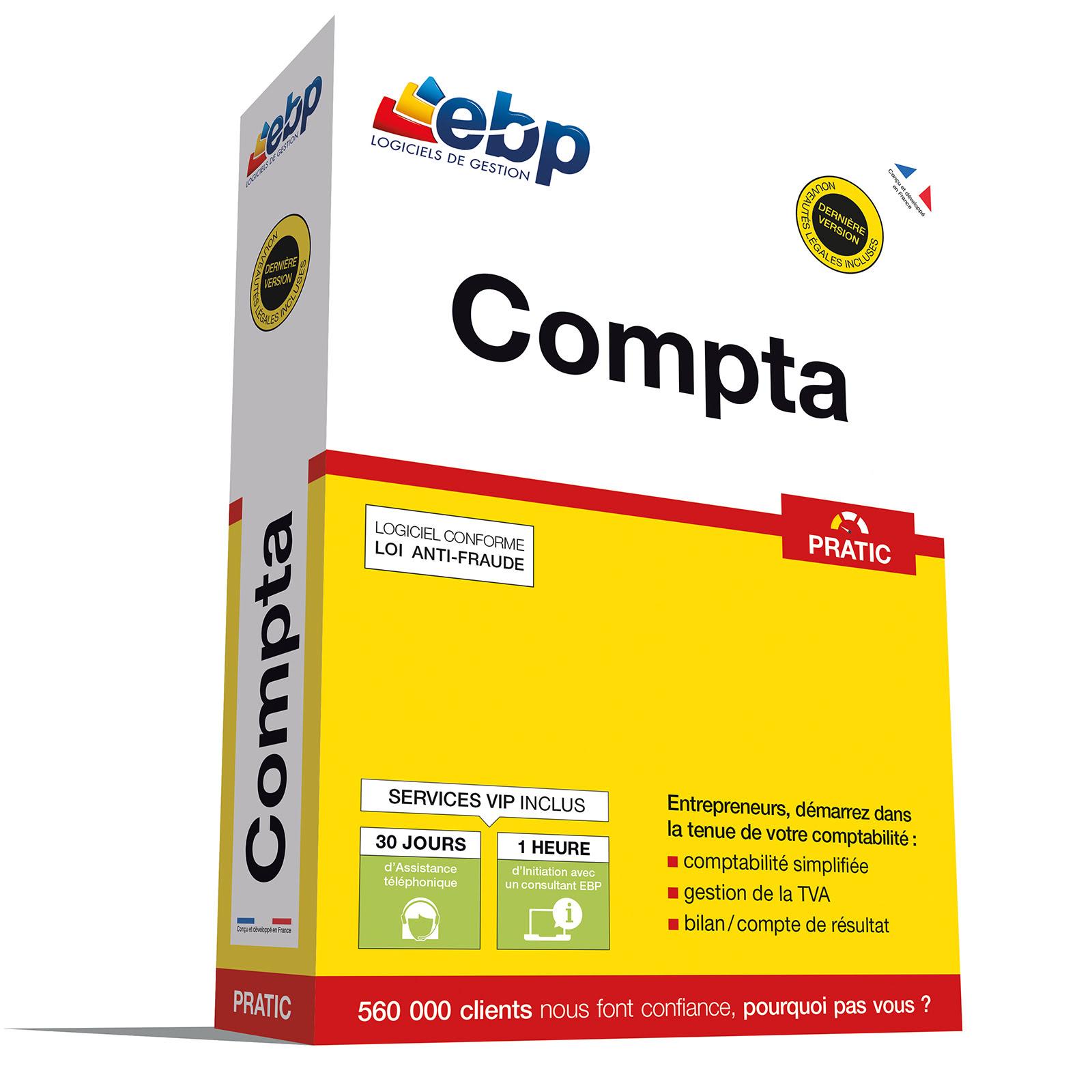 EBP Compta PRATIC + VIP - Logiciel application - Cybertek.fr - 0