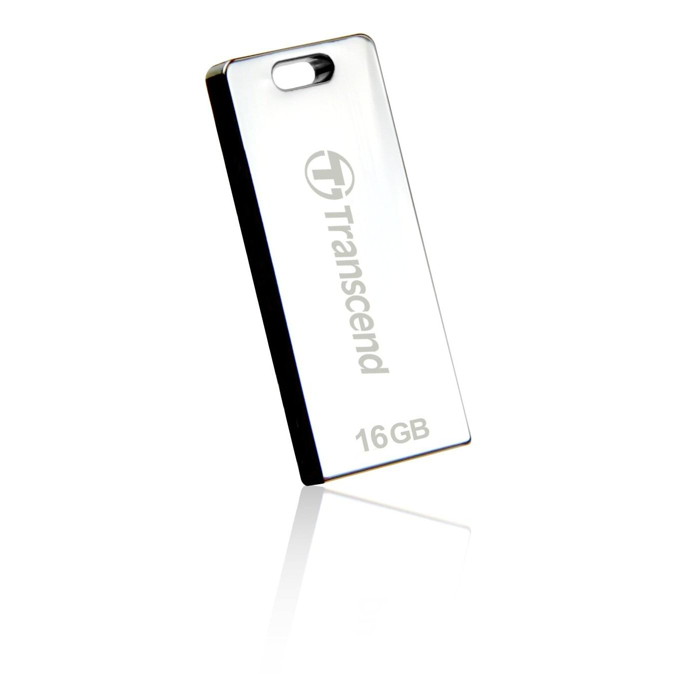 Transcend 16Go USB 2.0 JETFLASH CHROME - Clé USB Transcend - 0