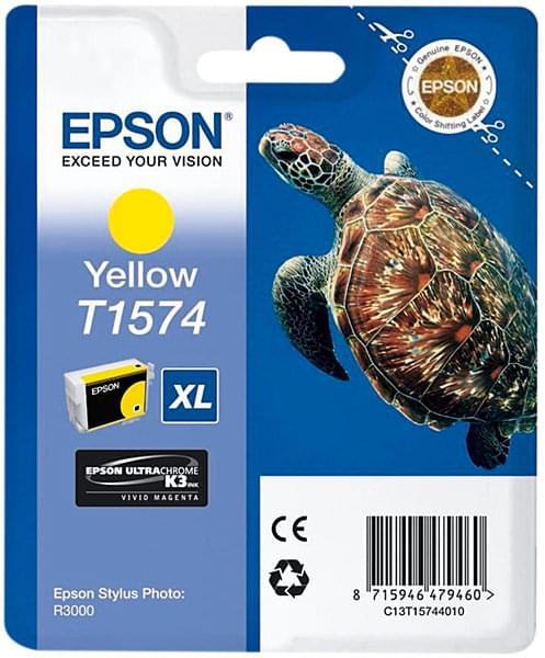 Epson Cartouche T1574 Jaune (C13T15744010) - Achat / Vente Consommable Imprimante sur Cybertek.fr - 0