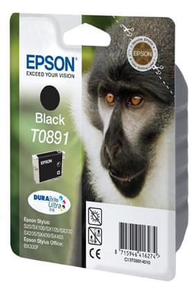 Cartouche T0891 Noire pour imprimante Jet d'encre Epson - 0