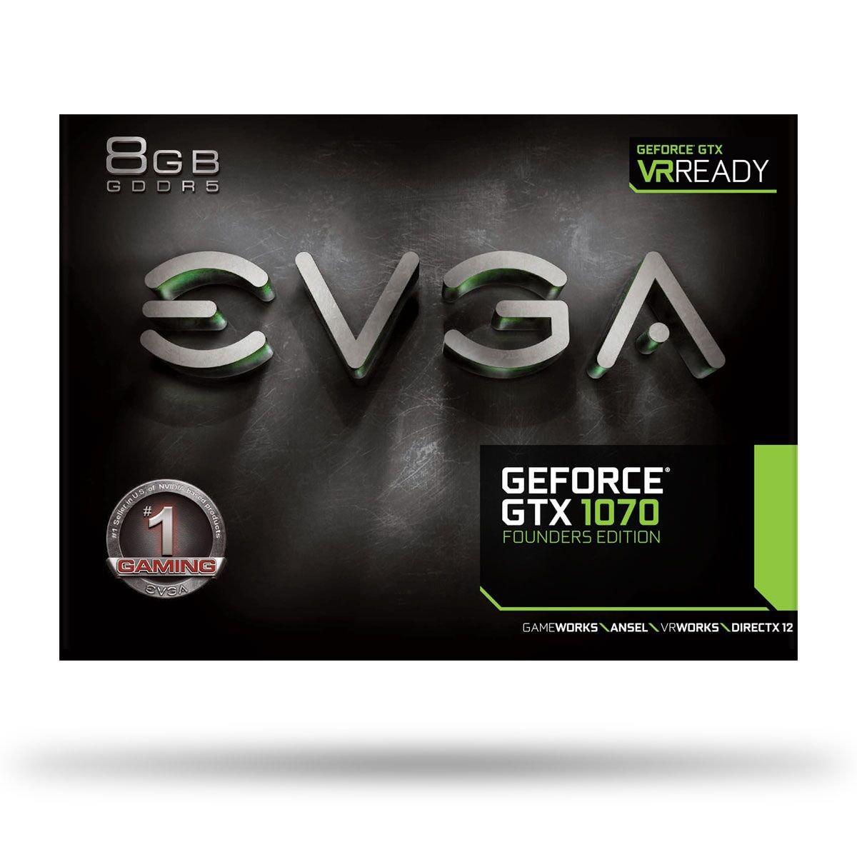 EVGA nVidia GF GTX 1070 - 8Go - carte Graphique pour Gamer - GPU nVidia - 4