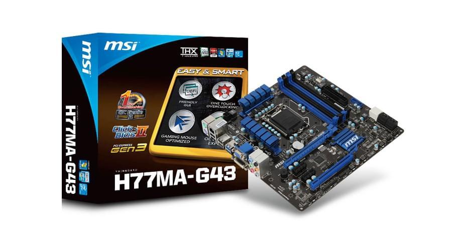 MSI H77MA-G43 (H77MA-G43) - Achat / Vente Carte Mère sur Cybertek.fr - 0