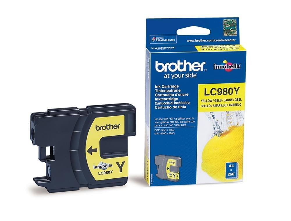 Brother Cartouche LC980Y Jaune (LC980Y) - Achat / Vente Consommable Imprimante sur Cybertek.fr - 0