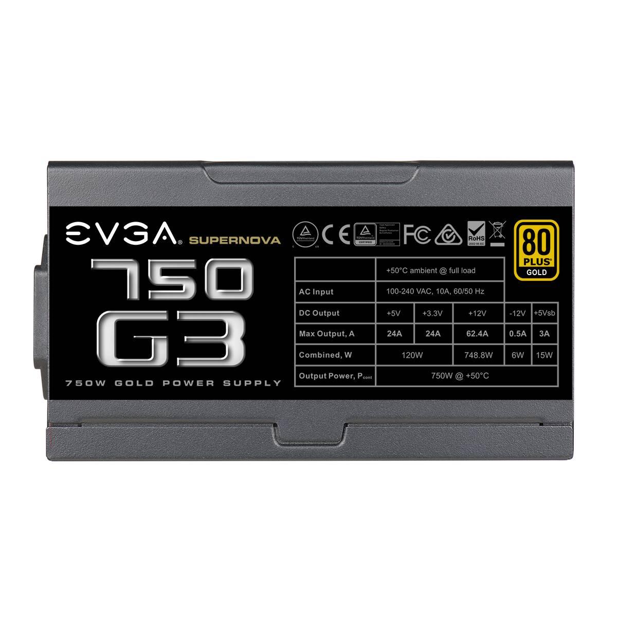 EVGA Full Modulaire 80+ Gold (750W) - Alimentation EVGA - 3
