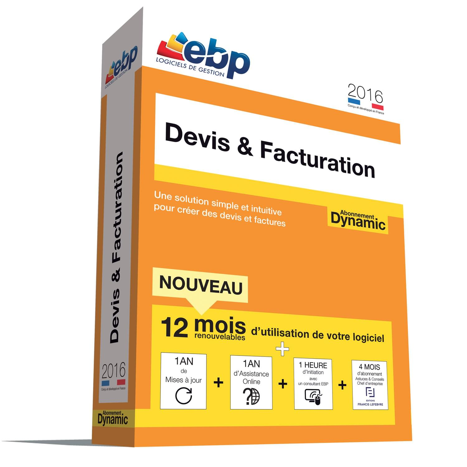 EBP Devis & Facturation DYNAMIC 12 mois 2016 + VIP - Logiciel application - 0