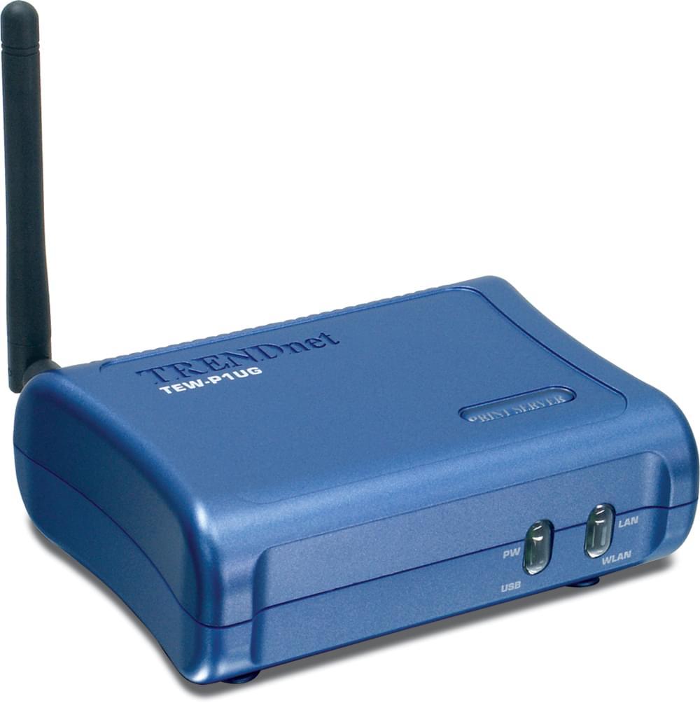 TrendNet Serveur d'impression Wifi (TEW-P1UG) - Achat / Vente Réseau Divers sur Cybertek.fr - 0