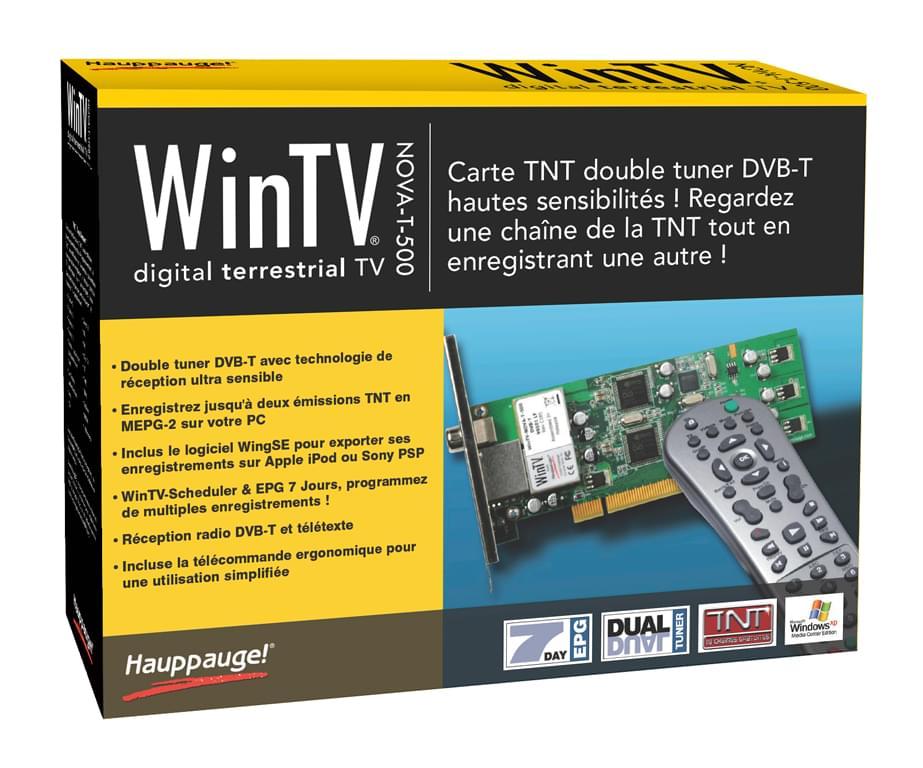 WinTV Nova T 500 PCI (Double Tuner TNT) - Tuner TNT Hauppauge - 0