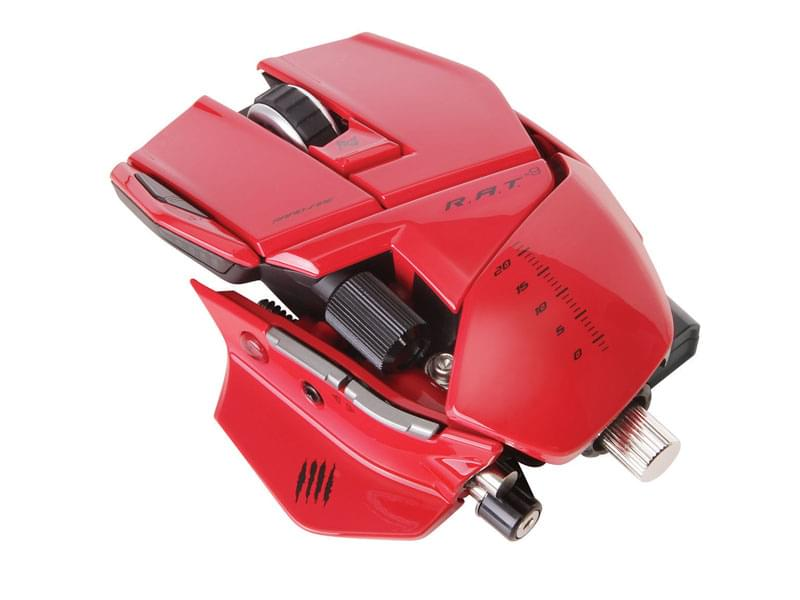 Souris PC MAD CATZ R.A.T 9 Gloss Rouge Wireless - 6400 DPI - 0