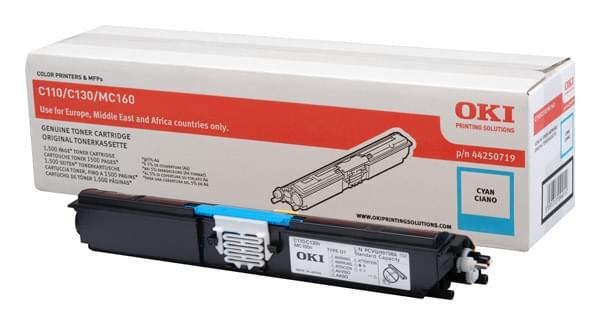 Toner Cyan 1500p - 44250719 pour imprimante Laser Oki - 0