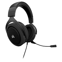 image produit Corsair HS50 Stereo Gaming Headset Carbon - CA-9011170-EU Cybertek