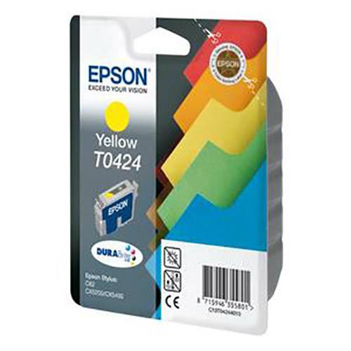 Cartouche T0424 Stylus C82 Jaune pour imprimante Jet d'encre Epson - 0