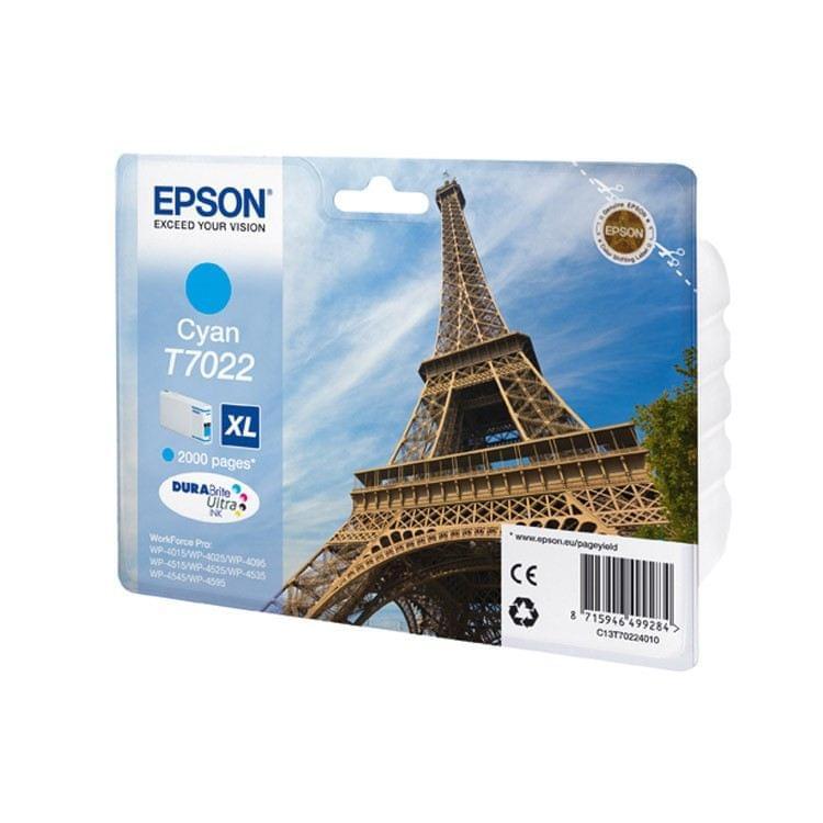 Epson Cartouche d'encre Cyan XL T7022 (C13T70224010) - Achat / Vente Consommable Imprimante sur Cybertek.fr - 0
