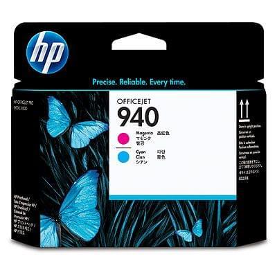 Tete d'impression N° 940 Rose Magenta Bleu -C4901A pour imprimante Jet d'encre HP - 0