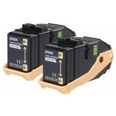 Pack de 2 Toner C9300 Jaune - C13S050606 pour imprimante  Epson - 0