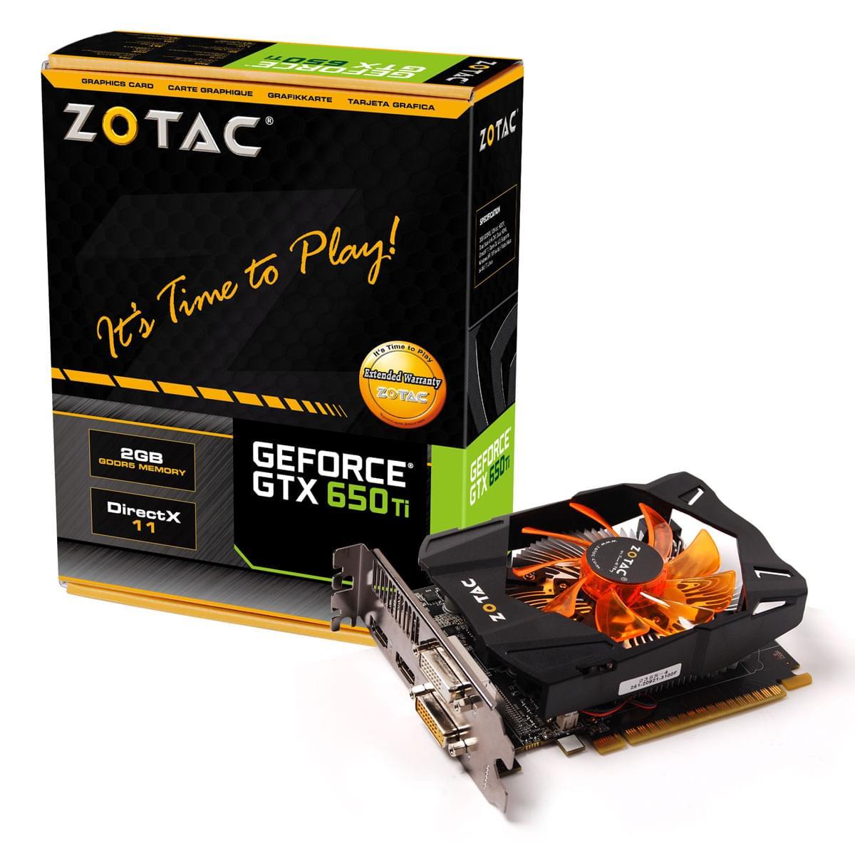 ZOTAC GF GTX 650TI OC (ZT-61102-10M) - Achat / Vente Carte Graphique sur Cybertek.fr - 0