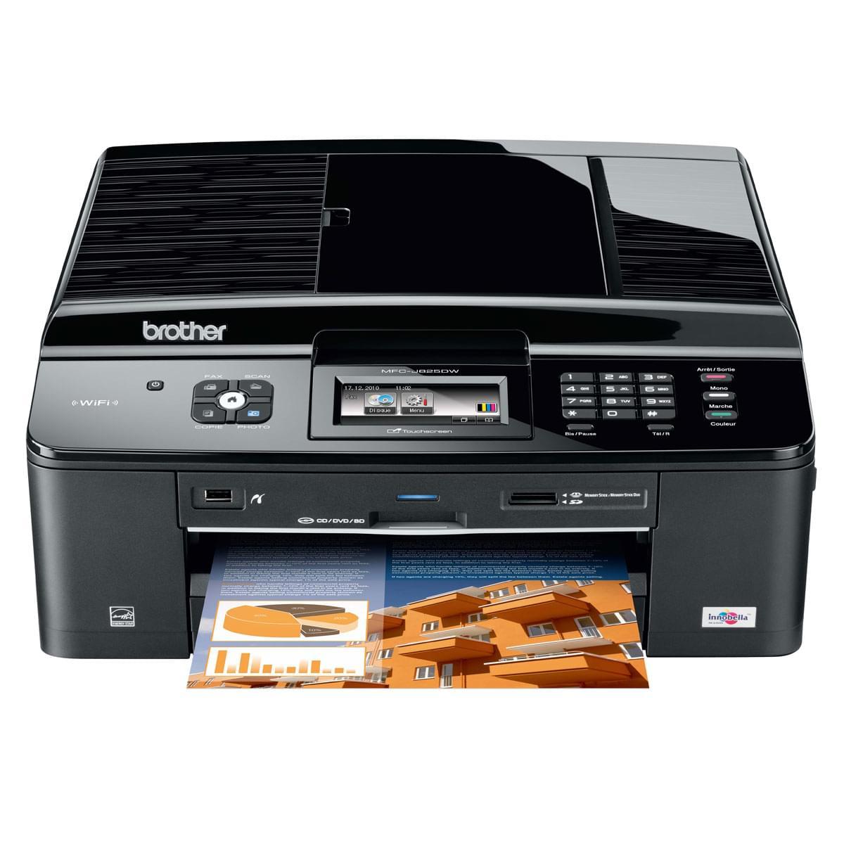 Imprimante multifonction Brother DCP-J525W - Cybertek.fr - 0