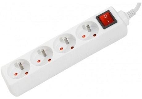 4 Prises + Interrupteur - 4,00m/Blanc  - Onduleur No Name - 0