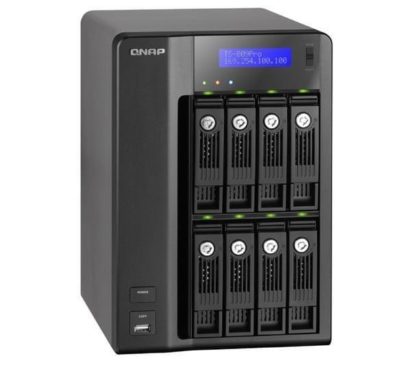 Qnap NAS 2xRJ45 (TS-809 PRO) - Achat / Vente Boîtier externe sur Cybertek.fr - 0
