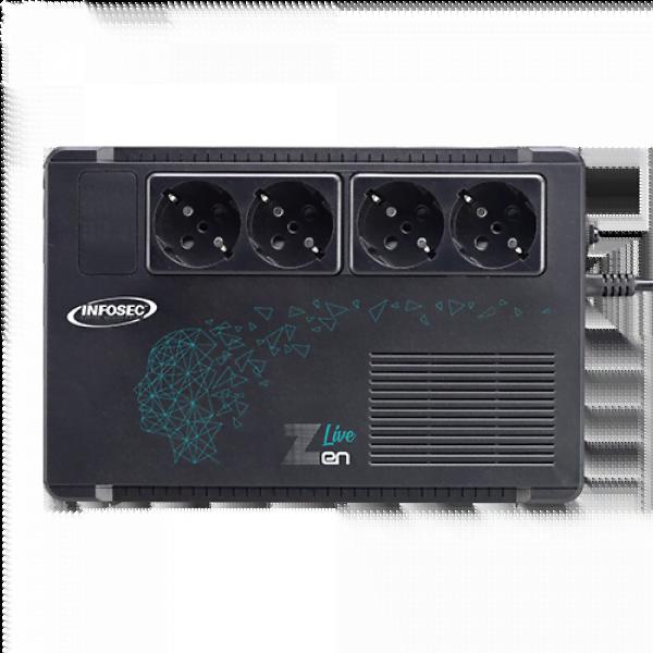 ZEN LIVE 500VA - 4 prises - Onduleur Infosec - Cybertek.fr - 3