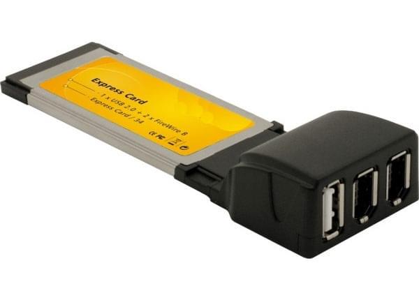 No Name Express Card USB2.0/FireWire (CT-PCME-EK201  /  305024) - Achat / Vente Carte contrôleur sur Cybertek.fr - 0
