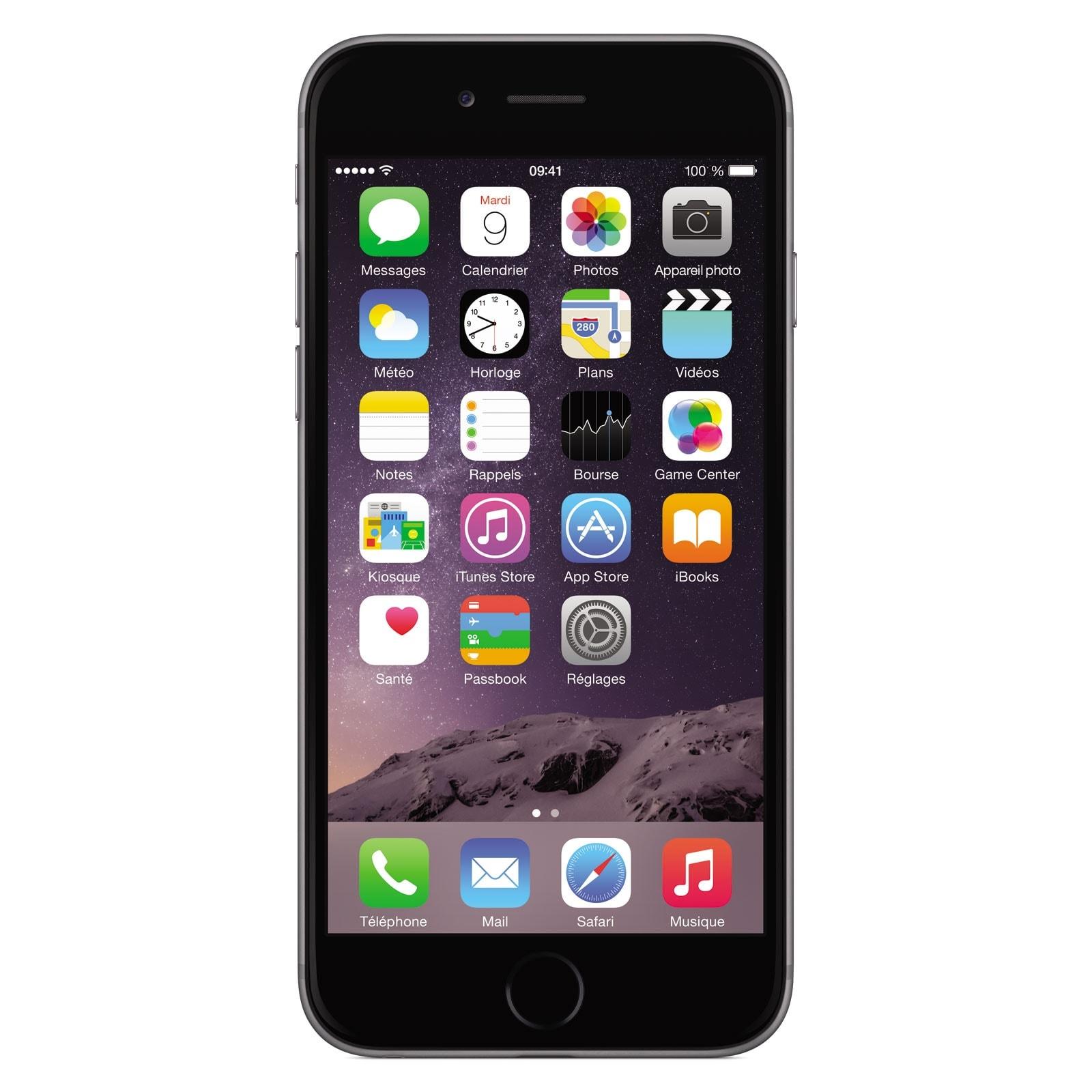 Apple iPhone 6 16Go Gris Sidéral (MG472ZD/A) - Achat / Vente Téléphonie sur Cybertek.fr - 1