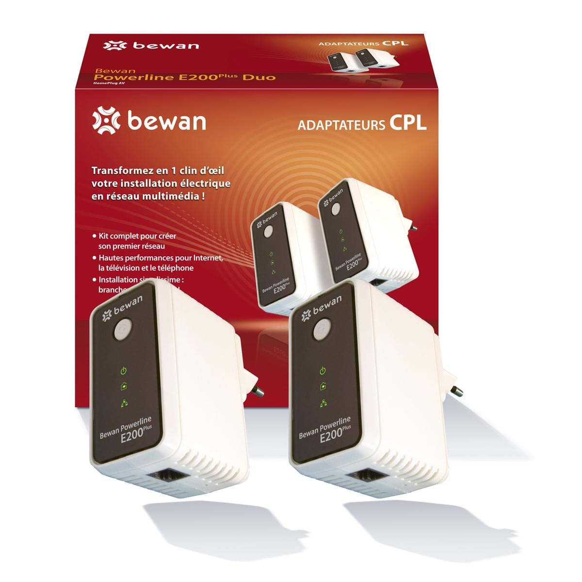 Bewan PowerLine E200Plus Duo (200Mb) Pack de 2 - Adaptateur CPL - 0