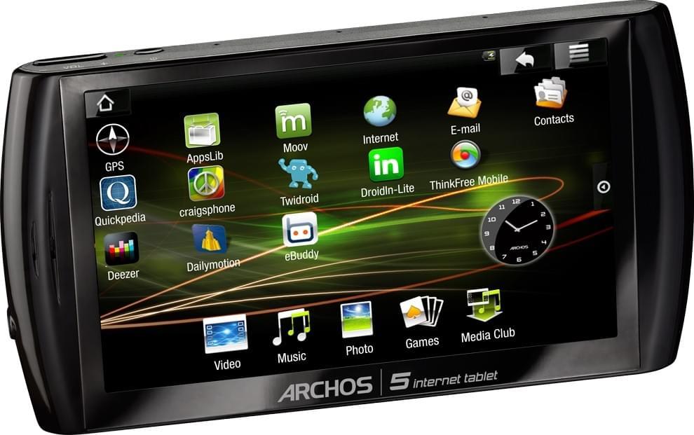 Archos Archos 5 Internet Tablet (501332 soldé) - Achat / Vente Tablette Tactile sur Cybertek.fr - 0