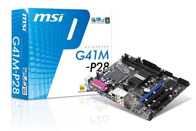MSI G41M-P28 Micro-ATX DDR3 - Carte mère MSI - Cybertek.fr - 0