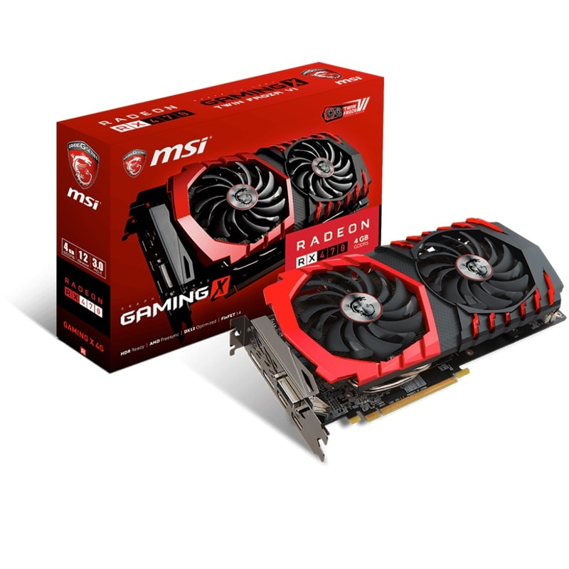 MSI  - 4Go - carte Graphique pour Gamer - GPU ATI/AMD - 1