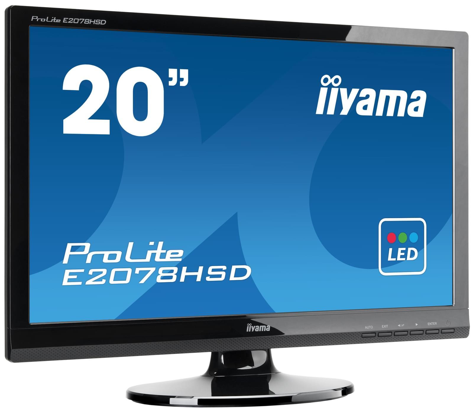 Iiyama E2078HSD-GB1 (E2078HSD-GB1) - Achat / Vente Ecran PC sur Cybertek.fr - 0
