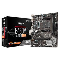 image produit MSI B450M-A PRO MAX - B450/AM4/DDR4/mATX Cybertek