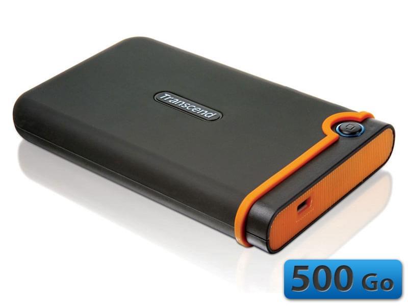 """Transcend 500Go 2""""1/5 USB2 StoreJet 25 Mobile TS500GSJ25M2 (TS500GSJ25M2) - Achat / Vente Disque dur Externe sur Cybertek.fr - 0"""