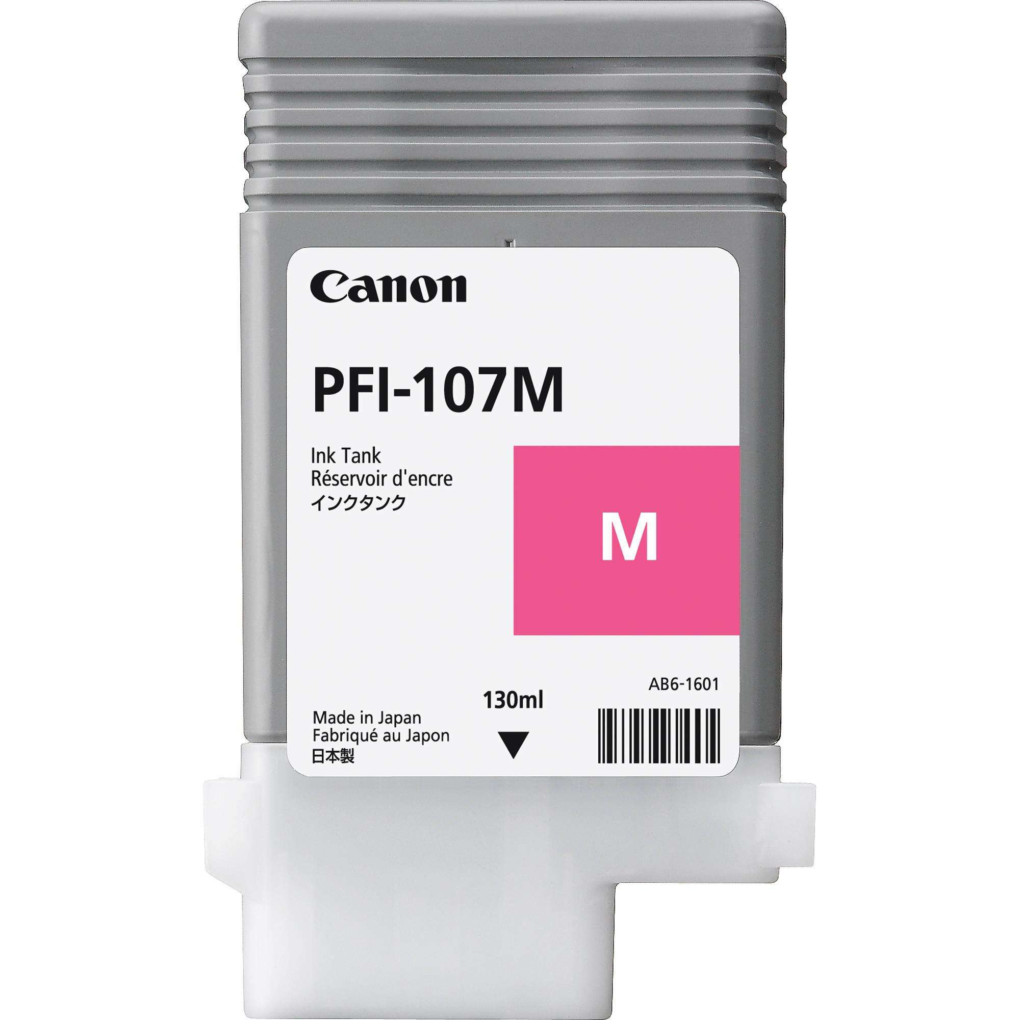 Cartouche Magenta PFI-107M - 6707B001 pour imprimante Jet d'encre Canon - 0