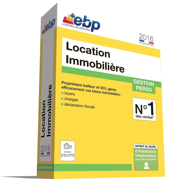 EBP Location Immobilière 2016 version 25 Lots (1053E060FAI) - Achat / Vente Logiciel Application sur Cybertek.fr - 0