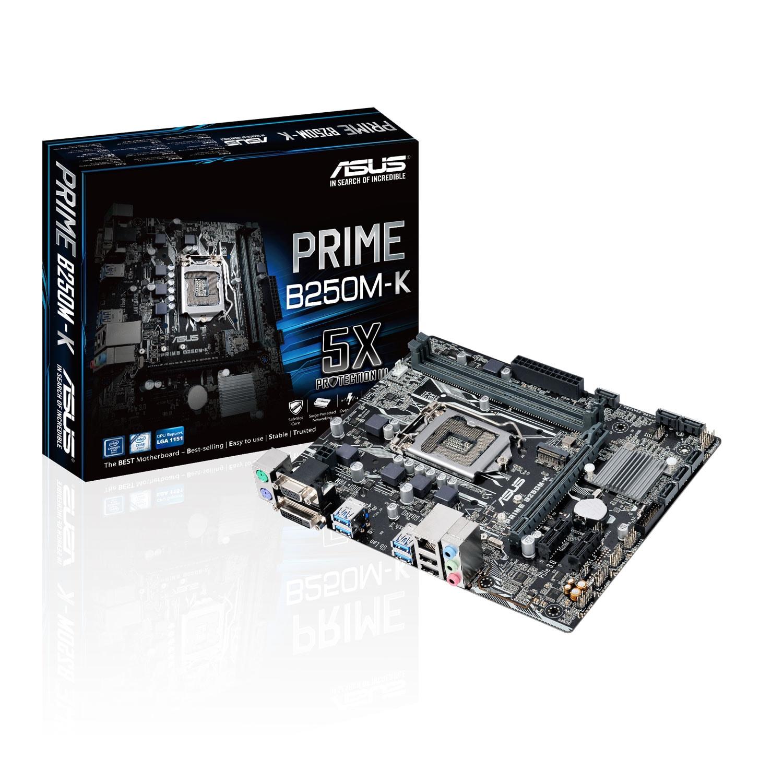 Asus PRIME B250M-K Micro-ATX DDR4 - Carte mère Asus - Cybertek.fr - 0