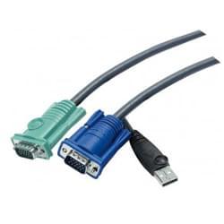 Cable pieuvre KVM VGA/USB 2L-5203U - 3m - Connectique PC - 0