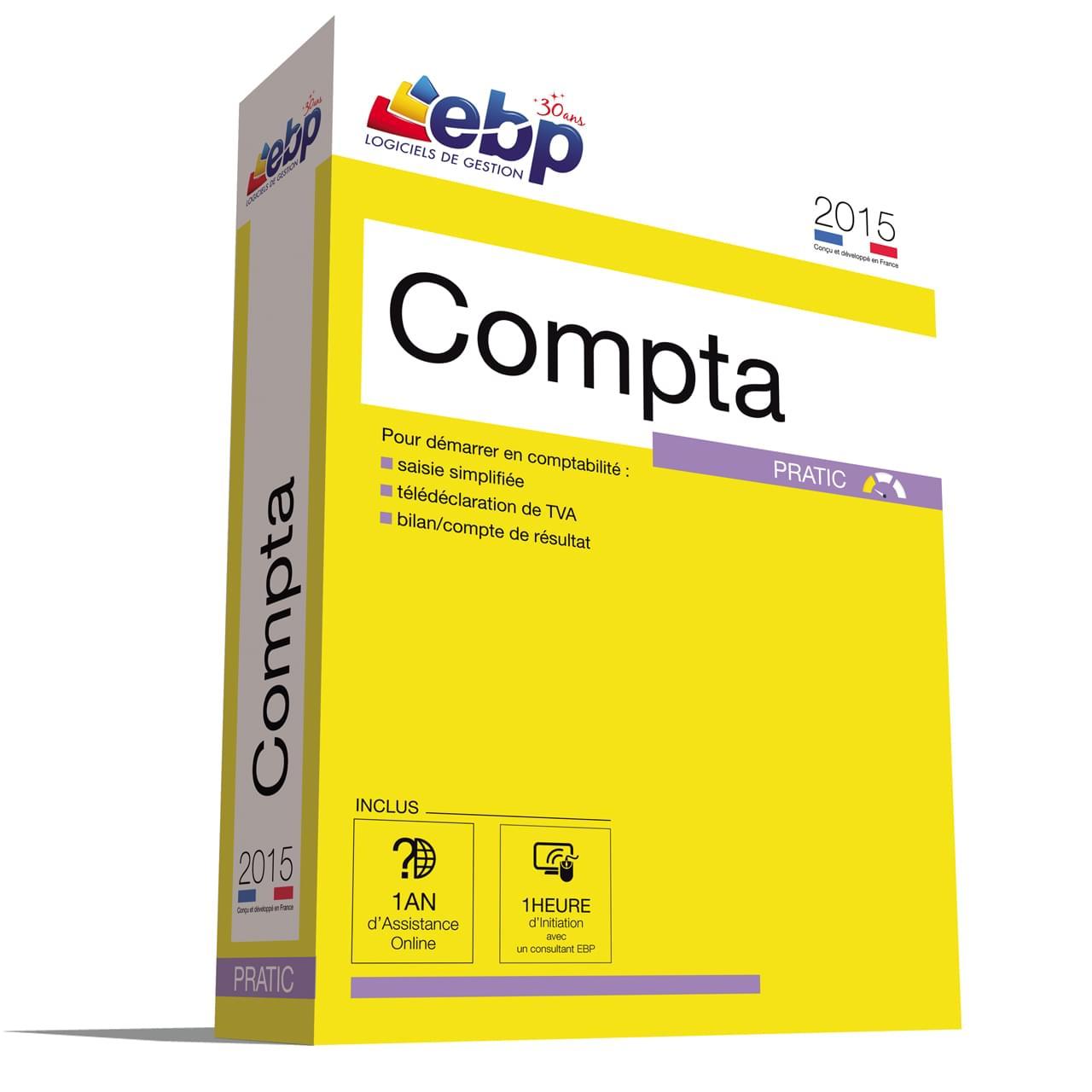 EBP Compta Pratic 2015 + VIP (1066E071FAB) - Achat / Vente Logiciel Application sur Cybertek.fr - 0