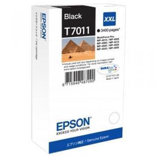 Cartouche d'encre Noire XXL T7011 - 3400p pour imprimante Jet d'encre Epson - 0
