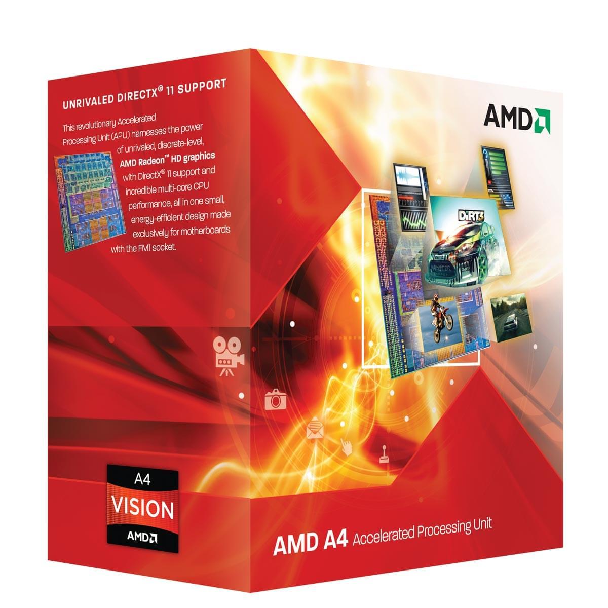 AMD A4 3300 (AD3300OJHXBOX **) - Achat / Vente Processeur sur Cybertek.fr - 0
