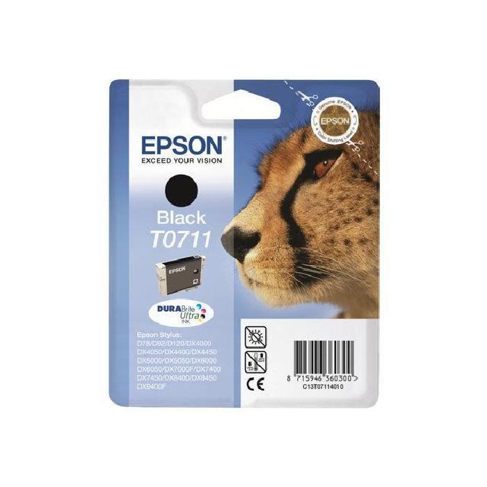 Epson Cartouche DURABrite T0711 Noire (C13T07114011) - Achat / Vente Consommable Imprimante sur Cybertek.fr - 0