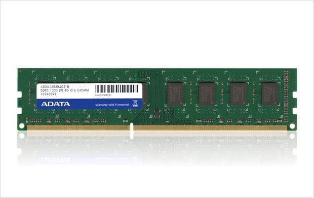 ADATA 4Go DDR3-1333  256X8 C9 AD3U1333W4G9S  (AD3U1333W4G9S) - Achat / Vente Mémoire PC sur Cybertek.fr - 0