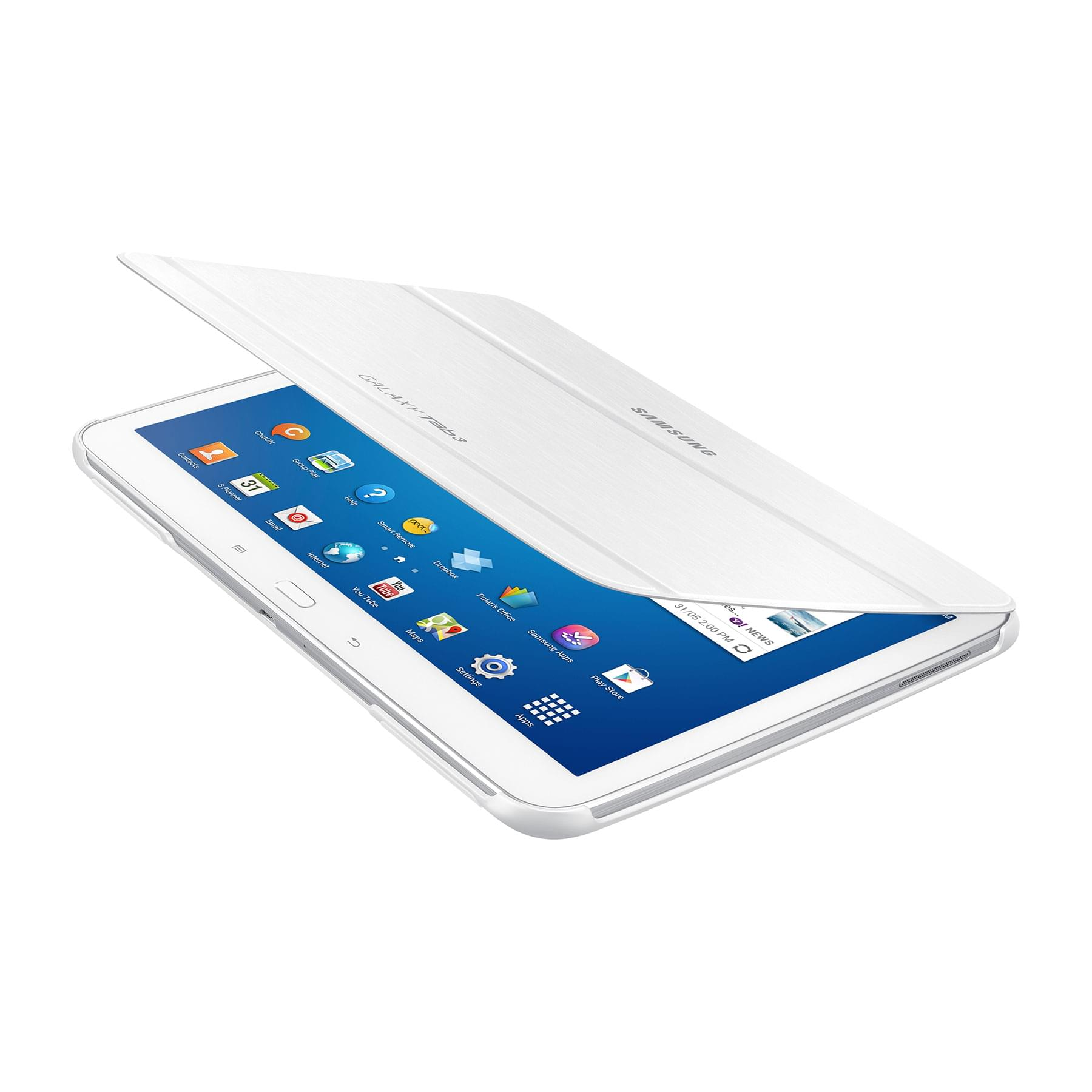"Etui Book Cover Galaxy Tab 3 10.1"" White - Accessoire tablette - 0"