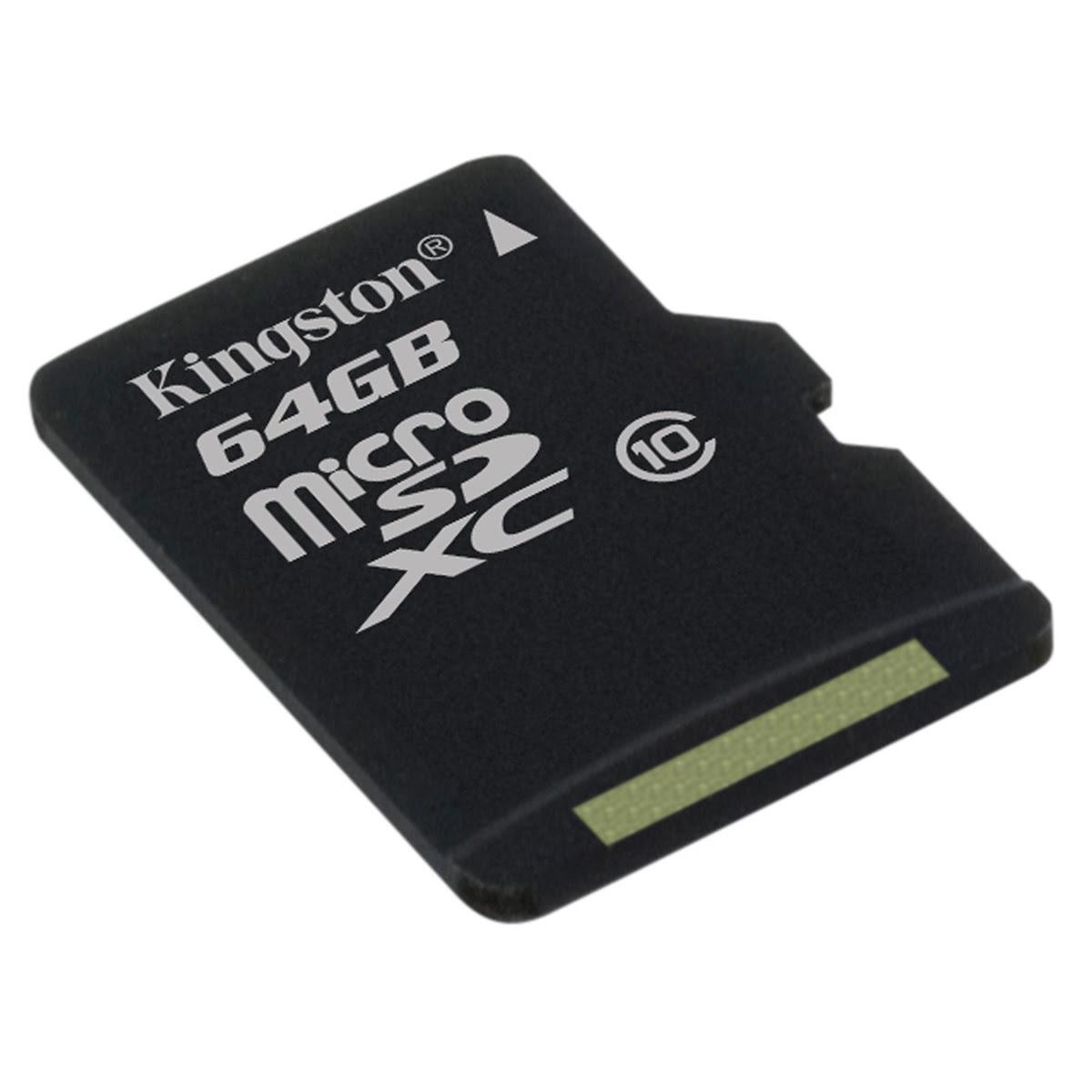 Kingston Micro SDHC 64Go Class 10 + Adapt - Carte mémoire - 0