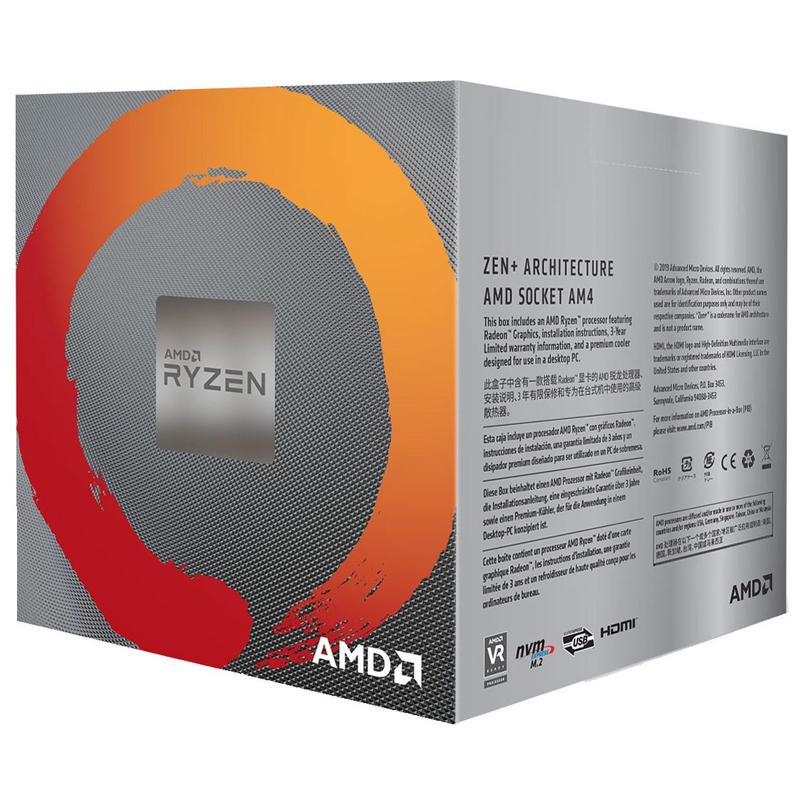 AMD Ryzen 5 3400G - 4.2GHz - Processeur AMD - Cybertek.fr - 1